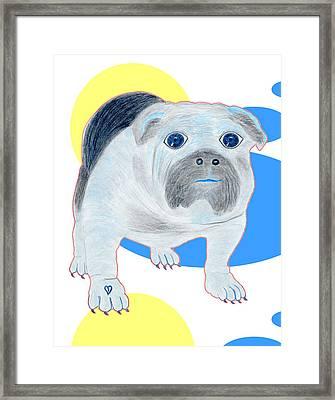 Charlie The Bulldog Framed Print by Tess M J Iroldi