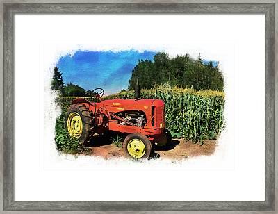Charlie The Tractor Framed Print by Richard Farrington