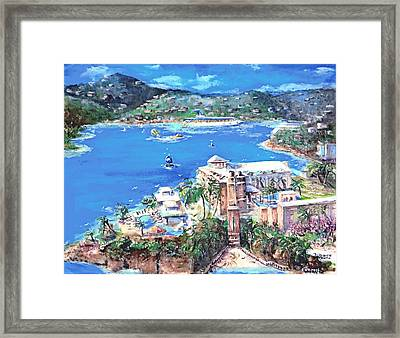 Charlotte Amalie Marriott Frenchmans Beach Resort St. Thomas Us Virgin Island Aerial Framed Print by Bernadette Krupa