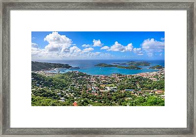 Charlotte Amalie St. Thomas In The Caribbean Framed Print