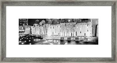 Charlotte Bearden Park Waterfall Fountain Panorama Photo Framed Print by Paul Velgos