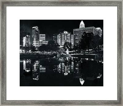 Charlotte Black Night Framed Print