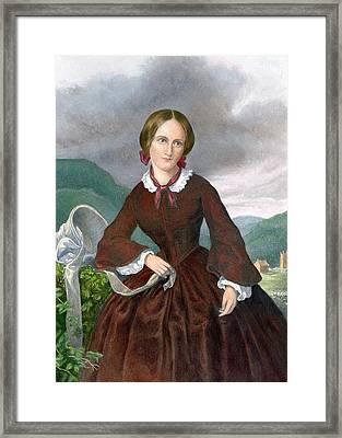 Charlotte Bronte 1816-1855 English Framed Print by Everett