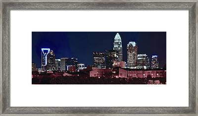 Charlotte City Skyline Framed Print