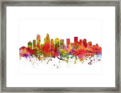 Charlotte Cityscape 08 Framed Print by Aged Pixel
