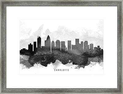 Charlotte Cityscape 11 Framed Print by Aged Pixel