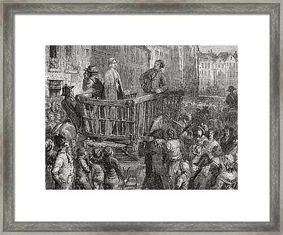 Charlotte Corday Driven To Her Framed Print