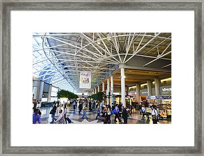 Charlotte Douglas International Airport Terminal Framed Print by David Oppenheimer