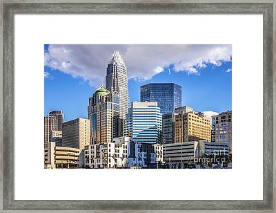 Charlotte Downtown City Buildings Photo Framed Print