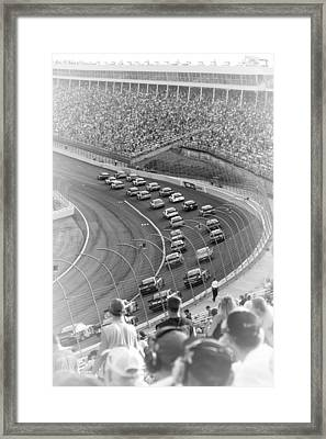 A Day At The Racetrack Framed Print