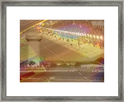 Charlotte Motor Speedway Framed Print by Kenneth Krolikowski