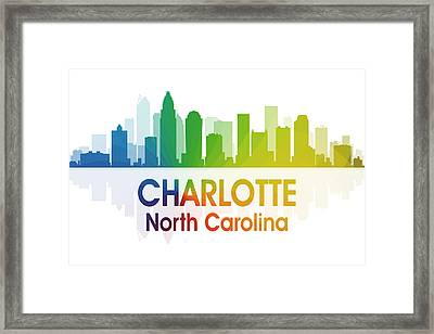 Charlotte Nc Framed Print by Angelina Vick