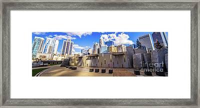 Charlotte North Carolina Panorama Photo Framed Print by Paul Velgos
