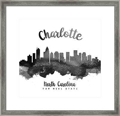 Charlotte North Carolina Skyline 18 Framed Print