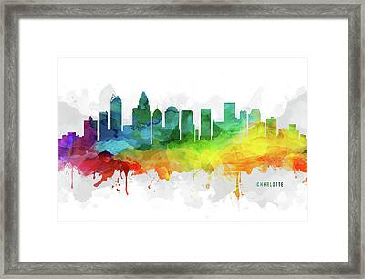 Charlotte Skyline Mmr-usncch05 Framed Print