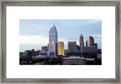 Charlotte Skyline Framed Print