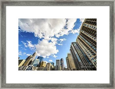 Charlotte Skyline Ultra Wide Angle Photo Framed Print by Paul Velgos