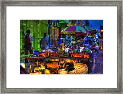 Charlotte Street Vendors Framed Print by Sarita Rampersad