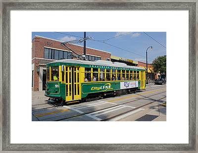 Charlotte Streetcar Line 4 Framed Print by Joseph C Hinson Photography