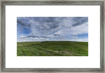 Charlotte Vermont Hay Field Farm Grass Framed Print by Andy Gimino
