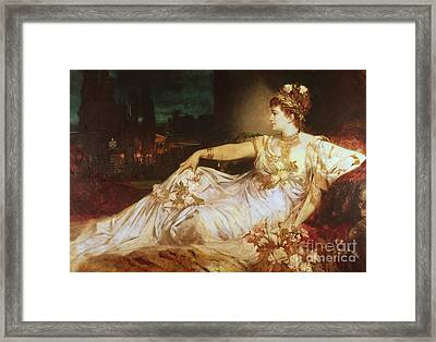 Charlotte Wolter As The Empress Messalina Framed Print
