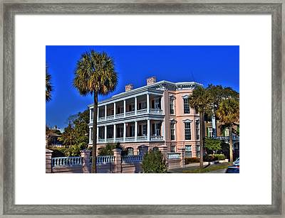 Charlston Battery Mansion Framed Print by Corky Willis Atlanta Photography