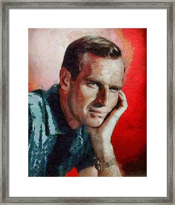 Charlton Heston Hollywood Actor Framed Print by John Springfield