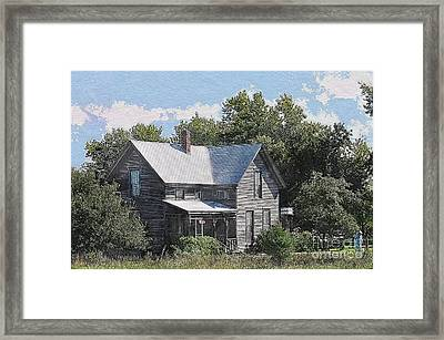 Charming Country Home Framed Print by Liane Wright
