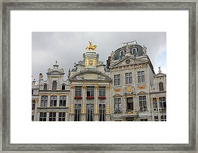 Charming Grand Place Buildings Framed Print by Carol Groenen