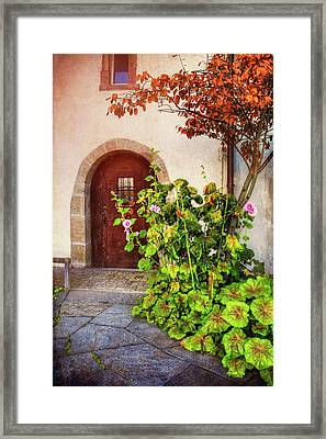 Charming Old Door In Basel  Framed Print