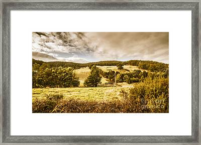 Charming Outback Country Setting Framed Print
