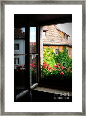 Charming Rothenburg Window Framed Print