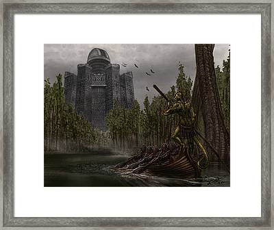 Charon Conveys The Party To Fate Framed Print