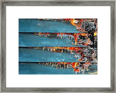Charred Remains Framed Print by Todd Klassy