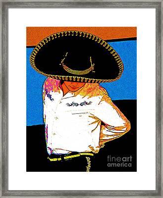 Charro Framed Print