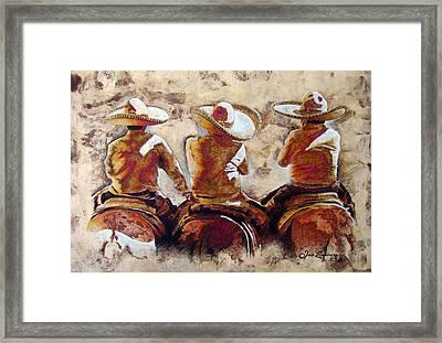 Charros Framed Print by J- J- Espinoza