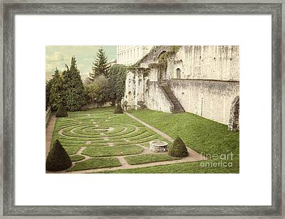 Chartres Labyrinth Garden Framed Print