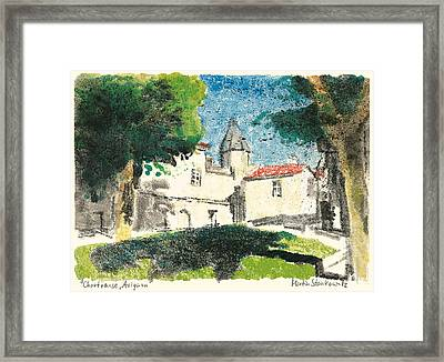 Framed Print featuring the painting Chartreuse Avignon by Martin Stankewitz