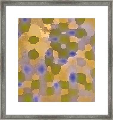 Chartreuse Two  By Rjfxx. Original Abstract Art Painting. Framed Print