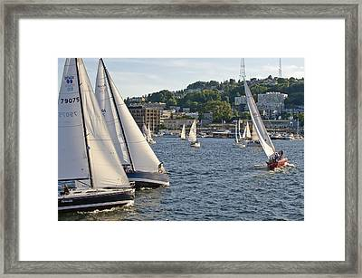 Chase Boats Framed Print by Tom Dowd