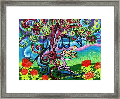 Chase Of The Faerie Note Bubble Framed Print by Genevieve Esson