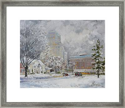 Chase Park Plaza In Winter, St.louis Framed Print