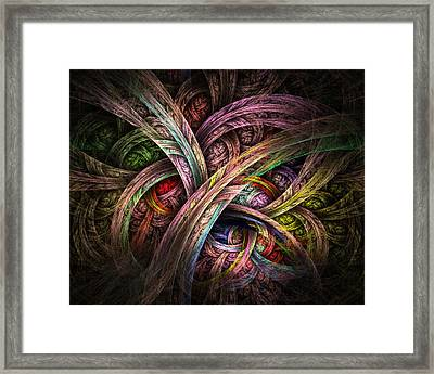 Framed Print featuring the digital art Chasing Colors - Fractal Art by NirvanaBlues