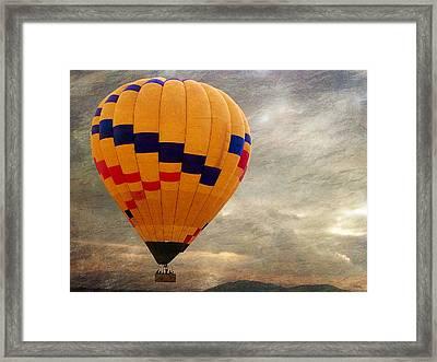 Chasing Hot Air Balloons Framed Print