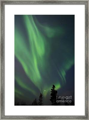 chasing lights II natural Framed Print