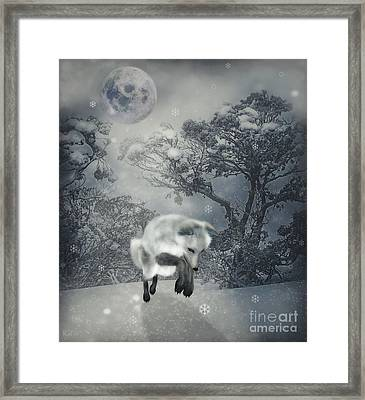 Chasing Snowflakes Framed Print