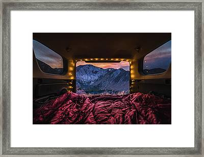 Chasing Sunset Framed Print