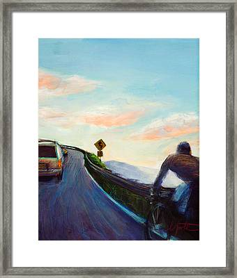 Chasing Sunset Framed Print by Athena  Mantle