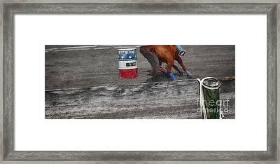 Chasing The Barrel  Framed Print by Steven Digman