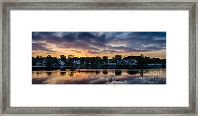 Chasing The Blues Away Framed Print